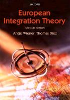 European Integration Theory 2e P