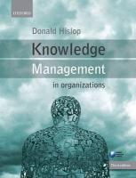 9780199691937-Knowledge-Management-in-Organizations
