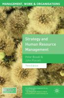 Strategy and Human Resource Managem