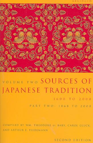 Sources of Japanese Tradition, Volume 2