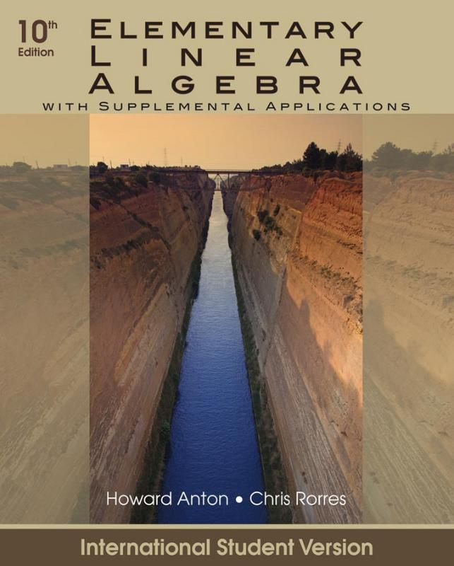 9780470561577-Elementary-Linear-Algebra-With-Supplemental-Applications