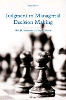 9781118065709-Judgment-in-Managerial-Decision-Making