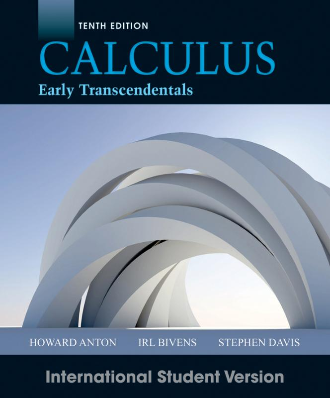 Calculus Early Transcendentals 10th Edition Intern Ational Student Version