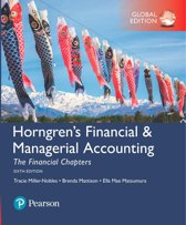 Horngren's Financial&Managerial Accounting, The Financial Chapters