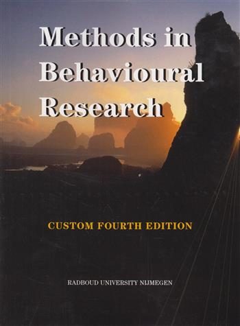 Methods In Behavioral Research Custom Reader For Radboud University Nijmegen