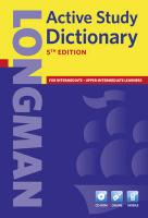 9781408232361-Longman-Active-Study-Dictionary-5th-Edition-CD-ROM-Pack