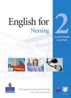 English For Nursing Level 2 Coursebook And Audio Cd Pack