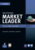 Market Leader. Upper Intermediate Coursebook (with DVD-ROM incl. Class Audio) & MyLab
