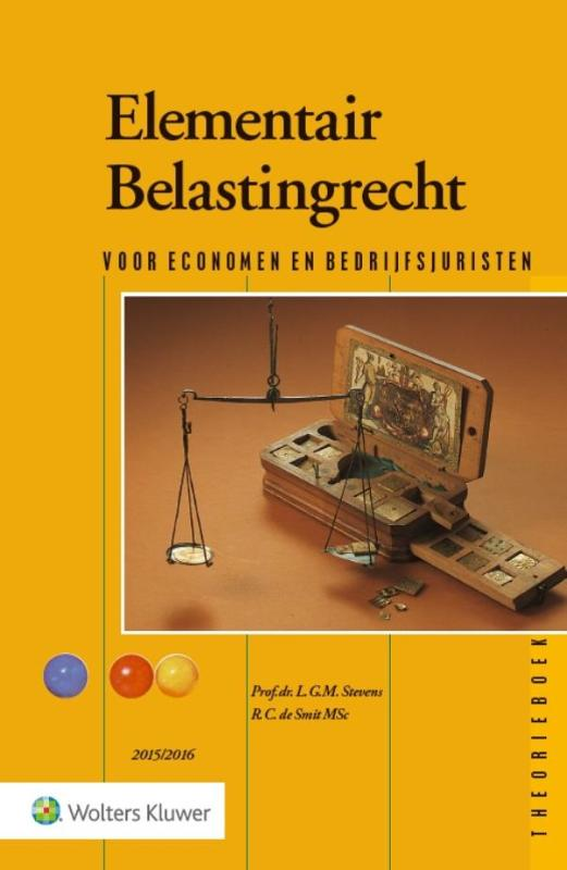 9789013128710-Elementair-belastingrecht-20152016-theorieboek