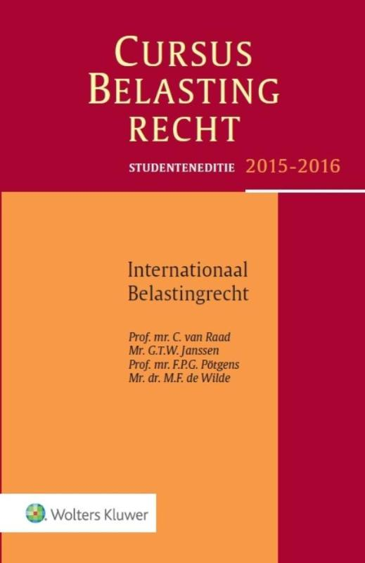 9789013129380-Studenteneditie-cursus-belastingrecht-internationaal-belastingrecht-2015-2016