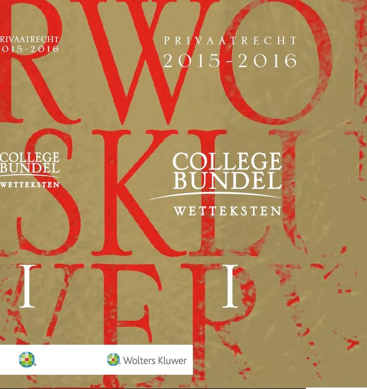 Kluwer Collegebundel 2015