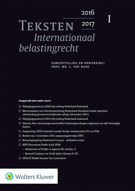 Teksten Internationaal belastingrecht 2016