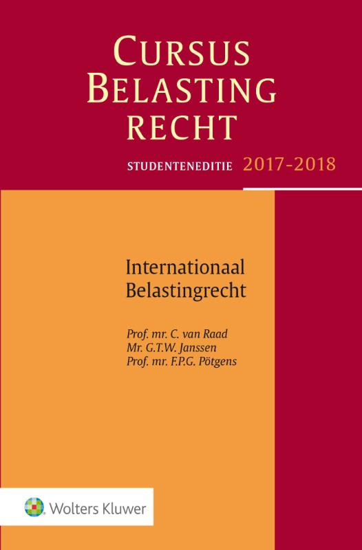 9789013142983-Studenteneditie-Cursus-Belastingrecht-Internationaal-Belastingrecht-2017-2018