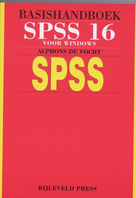 Basishandboek SPSS 16 Windows