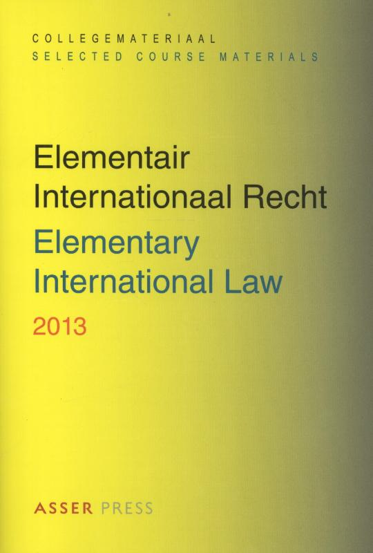 Elemenair internationaal Recht 2013